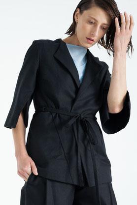 casual: moderner, fair produzierter Blazer in schwarz
