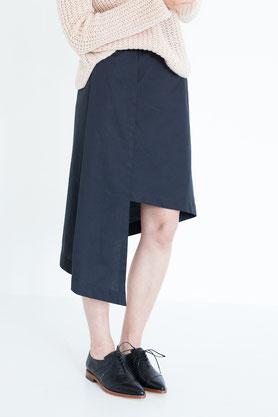 apart: eleganter Rock aus schwarzer Bio-Baumwolle