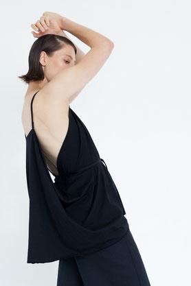 elegante feine Bluse aus nachhaltiger cremeweißer Baumwolle