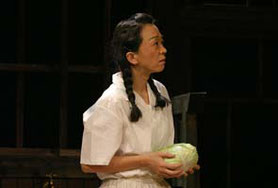 猫会議『父と暮せば』福吉美津江      (2005年 中島仁實氏撮影)