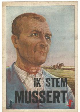 NSB Affiche: Ik stem Mussert: Agrariër/ Boeren.