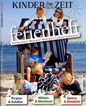 KinderZeit / Ferienheft / Logo und Zeichnungen für die Rätselseiten.