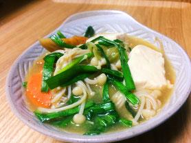 中華風豆腐入り鍋