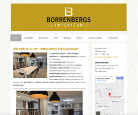 Van Bun Communicatie en Vormgeving - Website Borrenbergs Interieur