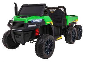 Rider/Raider/Dreiachs Kipper/XXL/24V/800W/Kinderauto/Kinder Elektroauto/2-Sitzer/grün/