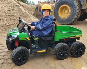 Land Rover/Defender/Kinderauto/Kinder Elektroauto/Kinder Auto/lizensiert/lackiert/