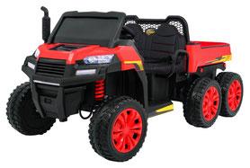Rider/Raider/Dreiachs Kipper/XXL/24V/800W/Kinderauto/Kinder Elektroauto/2-Sitzer/rot/