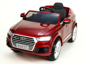 Audi Q7/2020/2x 45Watt/Kinderauto/Kinder Elektroauto/weinrot lackiert/lizensiert/