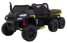 Rider/Raider/Dreiachs Kipper/XXL/24V/800W/Kinderauto/Kinder Elektroauto/2-Sitzer/schwarz/