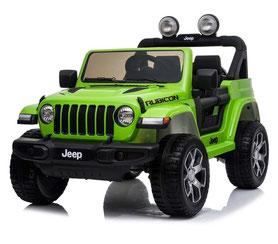 Jeep Wrangler Rubicon/Allrad/Kinderauto/ Kinder Elektroauto/Kinderautos/ Kinder Elektroautos/Kidcars/lizensiert/2 Sitzer/grün lackiert/