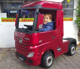 Mercedes/Actros/Kinder LKW/Sattelzugmaschine/Kinderauto/Kinder Elektroauto/lizensiert/lackiert/Fernbedienung/