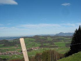 Blick auf Anger im Rupertiwinkl im Berchtesgadener Land
