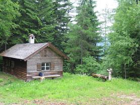 Die Diensthütte auf der Inzeller-Höhe lädt zur Rast ein