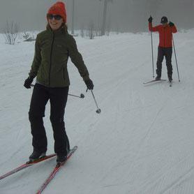 Langlaufschule, Skischule, Langlaufen am Bretterschachten, Bodenmais, Arber, Bayerischer Wald, Skating, Einsteiger, Anfänger, Fortgeschrittene