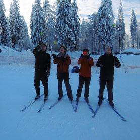 Langlaufen am Bretterschachten, Bodenmais, Bayerischer Wald, Schnupperstunde,