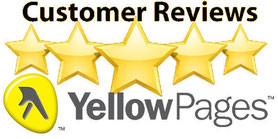 five star review on yellow pages for simply clean pressure washing & window cleaning.