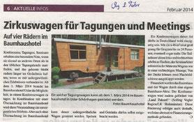 Weg und Fähre Ausgabe Februar 2014.