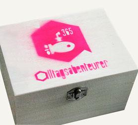 Onlineshop Tagebuchkästchen Kästchen Tagebuch Produkt handgemacht handmade pink neonpink Geschenk verschenken
