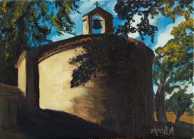 Notre Dame d'Esparron 33/24 oil on canvas