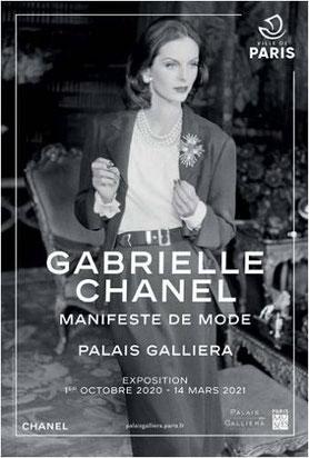 Affiche exposition Gabrielle Chanel