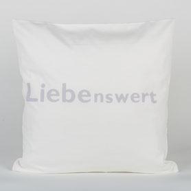Kissenhülle, handbedruckt, 100% Biobaumwolle, GOTS zertifiziert, Kissenhülle 40x40cm, Biobaumwolle, GOTS zertifiziert, in Deutschland hergestellt, schwermetallfreie Farben, nachhaltige Mode, Kuschelkissen
