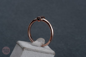 Ring Granat, geometrischer Ring, Granatschmuck, Granatring mishmish Unikatschmuck, Vintage Ring, Rotgold, Vintage Schmuck, nachhaltiger Schmuck, sustainable jewelry, Schmuck aus Deutschland, Ring Silber