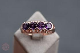 Ring Turmalin, Roségold, Rotgold, antiker Ring Turmalin, mishmish