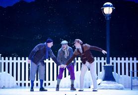 Drei Männer im Schnee 2019
