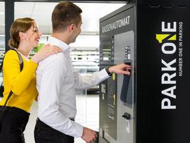 Zahlen am Kassenautomat