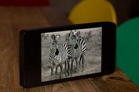 Bilderrahmen aus Holz im iPhone-Stil (24x12x2cm)