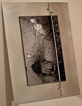 Aluminiumplatte mit Einbrennungen (44x35cm)