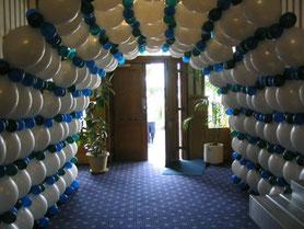 tunel de globos bicolor