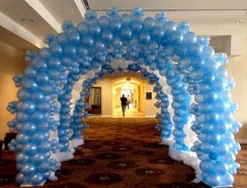 tunel de globos bautizo