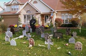 tumbas en el jardín