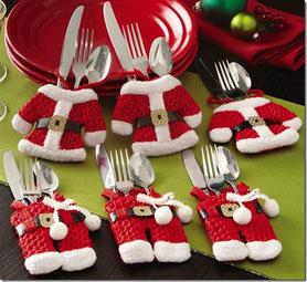 adornos navideños mesas