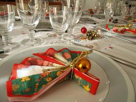 moño navidad mesa