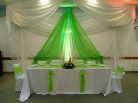 decoraciones telas verdes