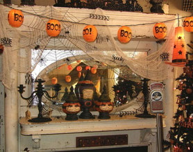 decoración interior halloween
