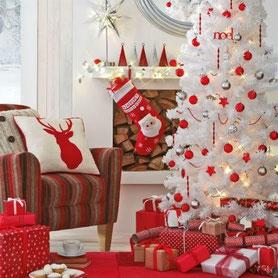 navidad blanco y rojo