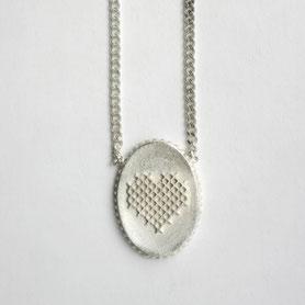 zilveren hartjes ketting