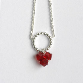 swarovski ketting bordeauxrood