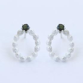 zeeuwse oorbellen met toermalijn en zilver, zeeuwse sieraden