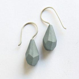 porseleinen oorbellen grijs