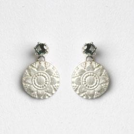 zilveren oorbellen met toermalijn, zeeuws