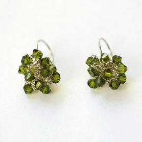 swarovski oorbellen, swarovski sieraden, handgemaakte sieraden