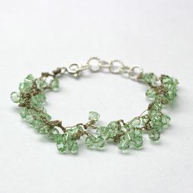 armband swarovski gehaakt, gehaakte sieraden, handgemaakte sieraden, swarovski sieraden