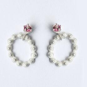 zeeuwse oorbellen zilver roze toermalijn, zeeuwse sieraden