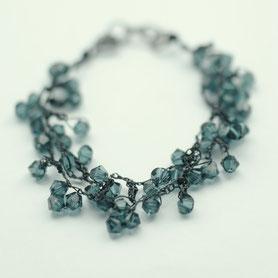 swarovski armband gehaakt, gehaakte sieraden, handgemaakte sieraden, swarovski sieraden