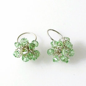 swarovski oorbellen gehaakt, gehaakte sieraden, swarovski sieraden handgemaakte sieraden