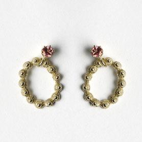 zeeuwse oorbellen goud met toermalijn
